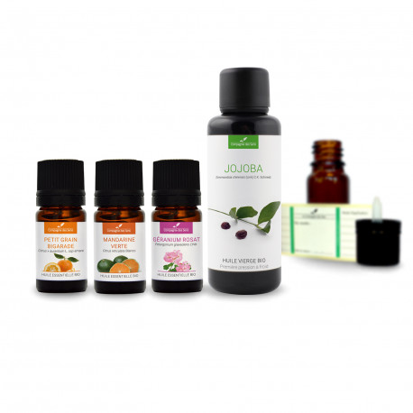 Peau grasse| Pack d'huiles essentielles