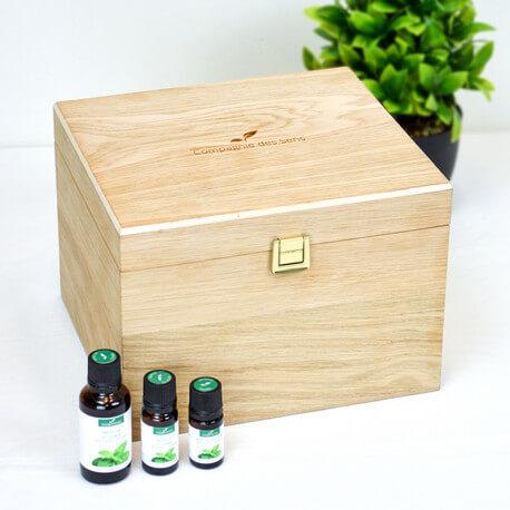 Boîte de rangement pour huiles essentielles