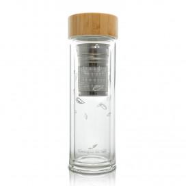 Bouteille avec infuseur en verre double paroi