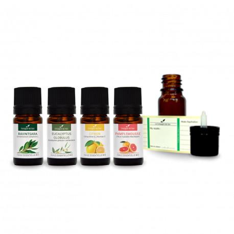 Diffusion Assainir l'air - Pack d'huiles essentielles