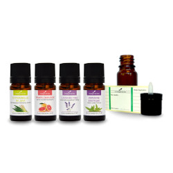 Diffusion Stop-Odeurs - pack d'huiles essentielles