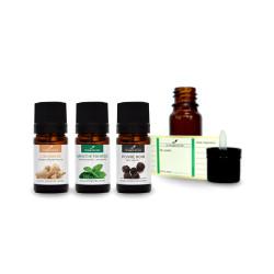 Diffusion Réveil tonique | Pack d'huiles essentielles