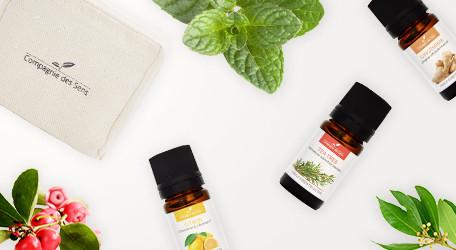 Assortiment d'huiles essentielles